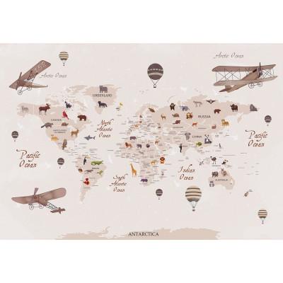 Карта мира, S1004, размер 388х270 см