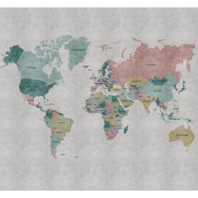 Политическая карта мира, S1123, размер 291х270 см