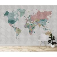 Политическая карта мира, S1124, размер 388х270 см