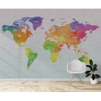 Карта мира на русском, S1134, размер 388х270 см