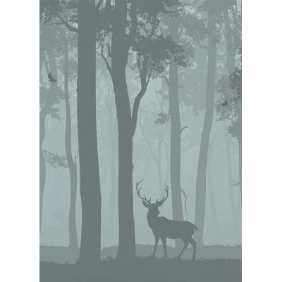 Олень в лесу, S1182, размер 194х270 см