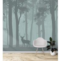Олень в лесу, S1183, размер 291х270 см