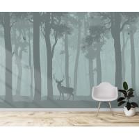Олень в лесу, S1184, размер 388х270 см